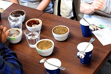 直売会 コーヒーセミナー カッピング体験