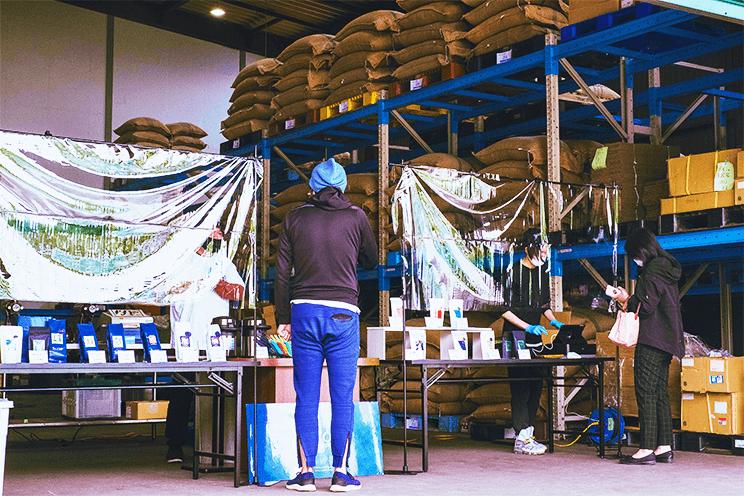 熊谷焙煎工場の直売会(6月27日)