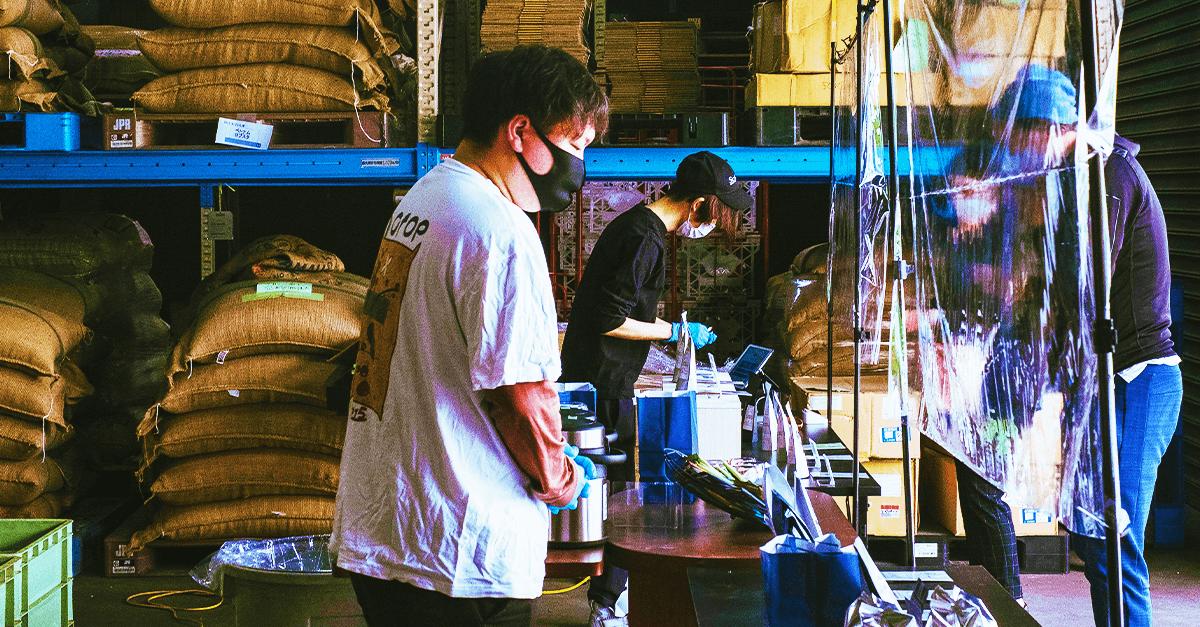 熊谷焙煎工場の直売会(10月31日)